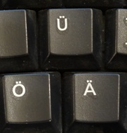 Рачо пазарува по интернет - немска клавиатура