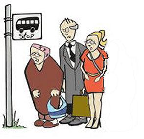 Рачо отива на работа - с автобус, защото няма къде да паркира колата си