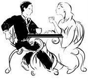 Фрида и Рачо пият кафе в обедната почивка